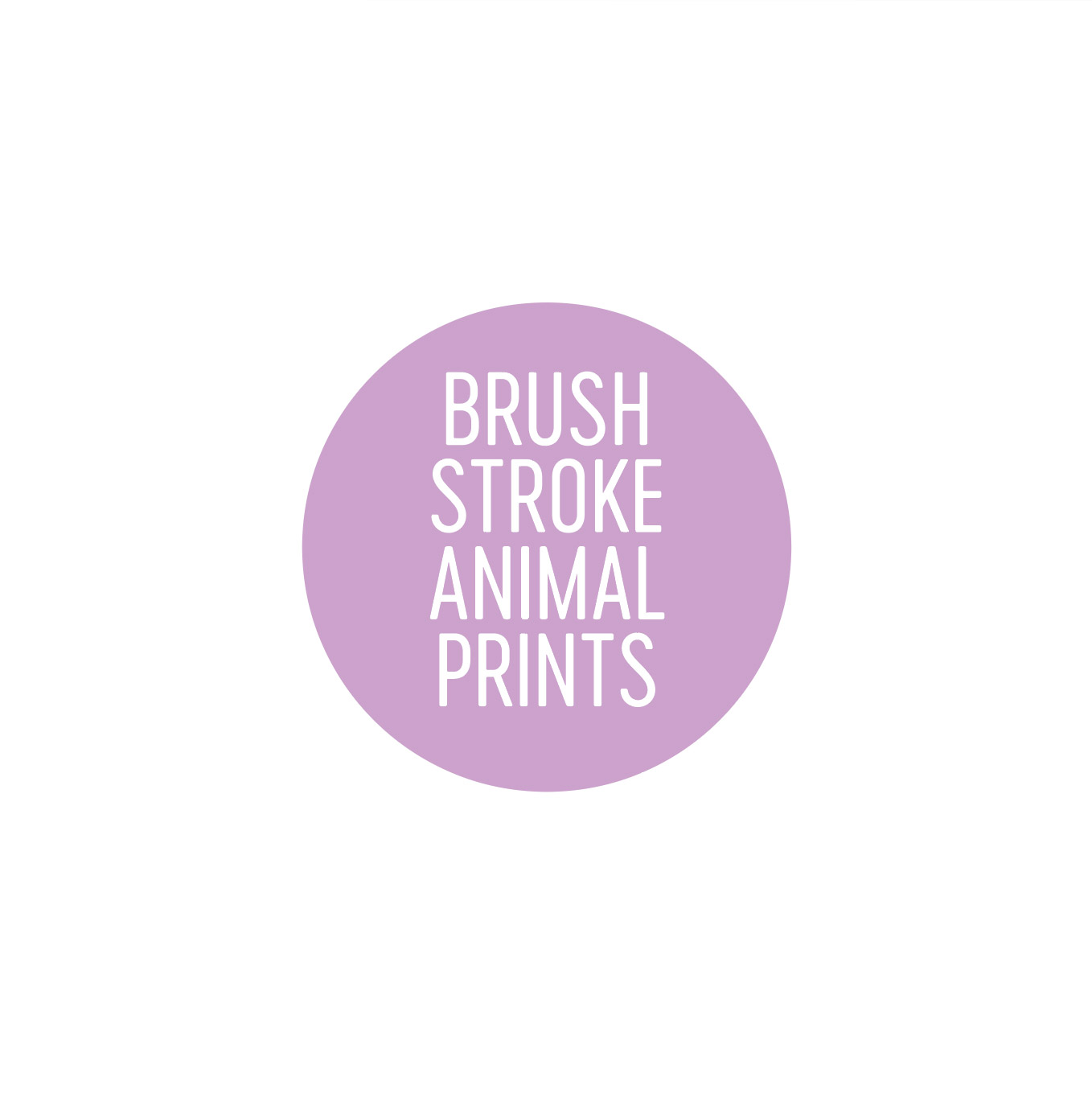 Brush Stroke Animal Prints