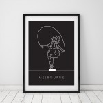Skipping Girl Print